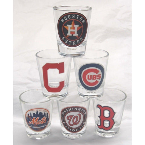 MLB 2 oz Shot Glass with Team Logo by The Memory Company