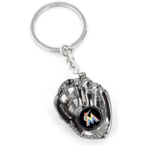 MLB Miami Marlins Chrome Glove With Logo in Palm Key by AMINCO