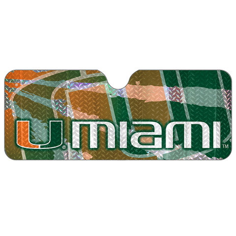 NCAA Miami Hurricanes Automotive Sun Shade Universal Size Team ProMark
