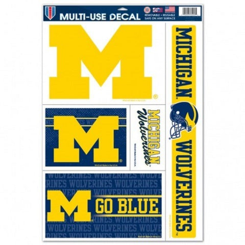 NCAA Michigan Wolverines Ultra Decals Set of 5 By WINCRAFTT