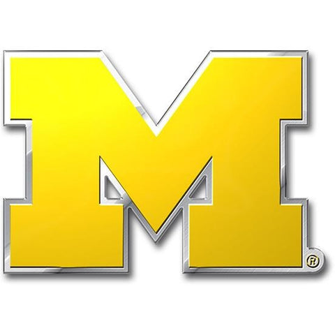 NCAA Michigan Wolverines 3-D Color Logo Auto Emblem By Team ProMark
