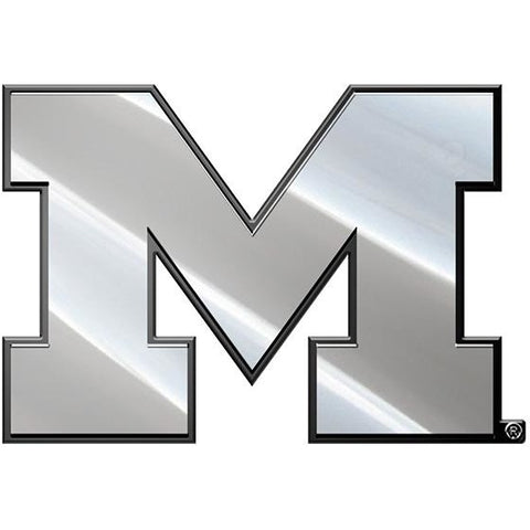 NCAA Michigan Wolverines 3-D Chrome Heavy Metal Emblem By Team ProMark