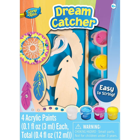 MasterPieces Works of Ahhh... Mini Dream Catcher Wood Paint Kit
