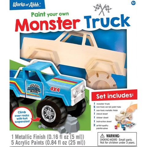 MasterPieces Works of Ahhh... Monster Truck Wood Paint Kit #21651
