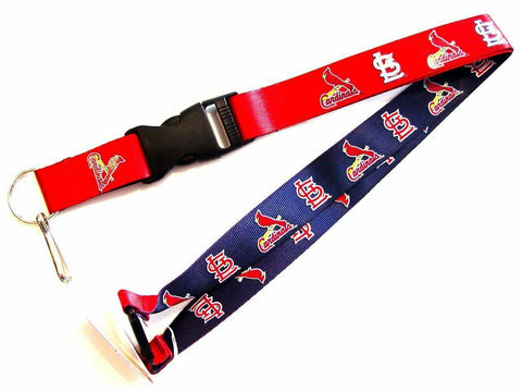 MLB St. Louis Cardinals Reversible Lanyard Keychain 23″ Long 3/4″ Wide by Aminco