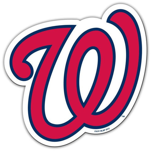 MLB Washington Nationals Cap Logo on 12 inch Auto Magnet