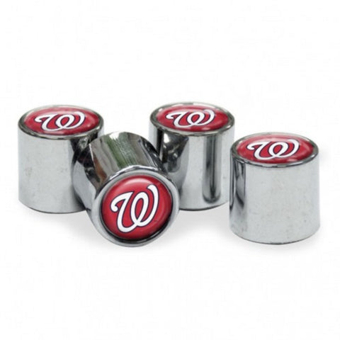 MLB Washington Nationals Chrome Tire Valve Stem Caps by WinCraft