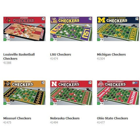 NCAA Checkers Game by Masterpieces Puzzles Co.