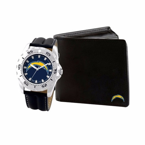 NFL Men's Watch and Leather Wallet Set by Game Time Select Team on Left
