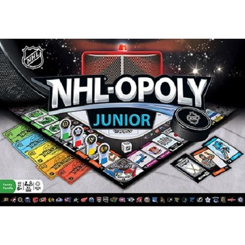 NHL-Opoly (Monopoly) Junior Board Game Masterpieces Puzzles Co.