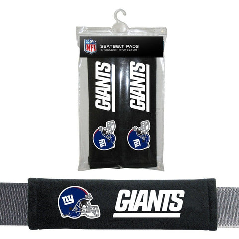 NFL New York Giants Velour Seat Belt Pads 2 Pack by Fremont Die
