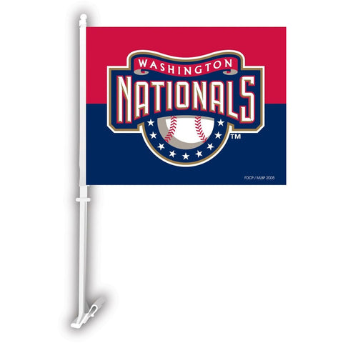 MLB Alt. Logo Washington Nationals Window Car Flag RICO or Fremont Die