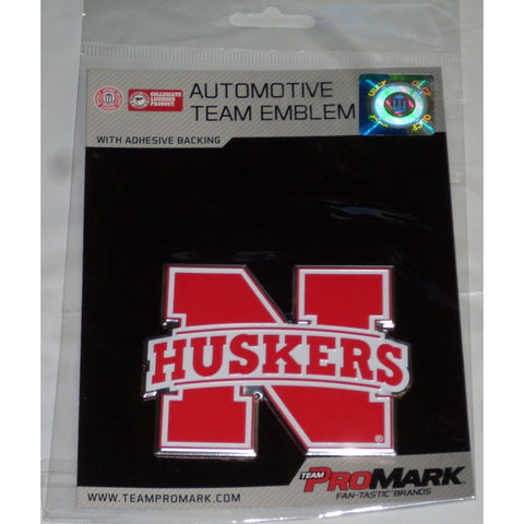 NCAA Nebraska Cornhuskers 2nd 3-D Color Logo Auto Emblem By Team ProMark