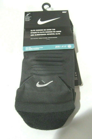 1 Pair Nike DRI-FIT Elite Cushion No Show Tab Socks Men's Shoe SZ 10-11.5