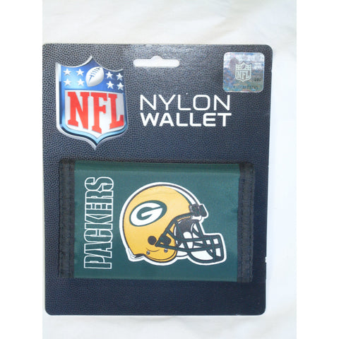 NFL Green Bay Packers Tri-fold Nylon Wallet with Printed Logo