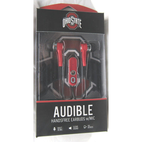 NCAA Ohio State Buckeyes Team Logo Earphones with Microphone by MIZCO