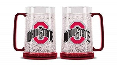 NCAA Ohio State Buckeyes 16oz Crystal Freezer Mug by Duck House