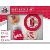 NCAA Real Wood Baby Rattles (2-Pack) by MasterPieces Puzzle Co.