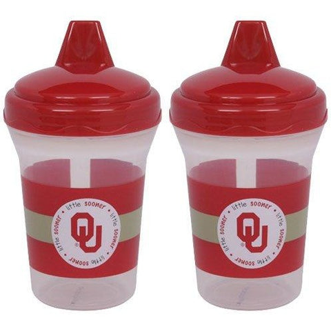 NCAA Oklahoma Sooners Toddlers Sippy Cup 5 oz. 2-Pack by baby fanatic