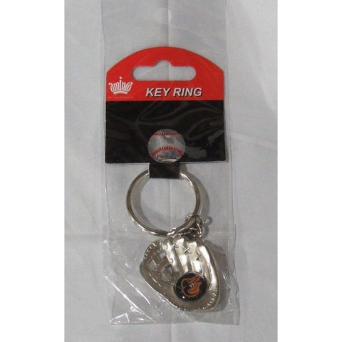 MLB Chrome Glove With Bird Face Logo Palm Key Chain Baltimore Orioles AMINCO