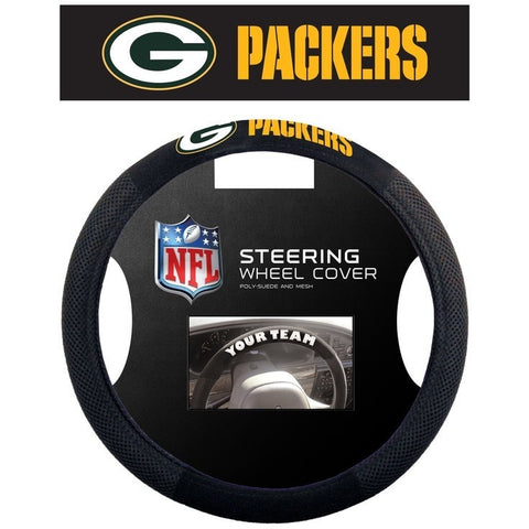 NFL Green Bay Packers Poly-Suede Mesh Steering Wheel Cover by Fremont Die
