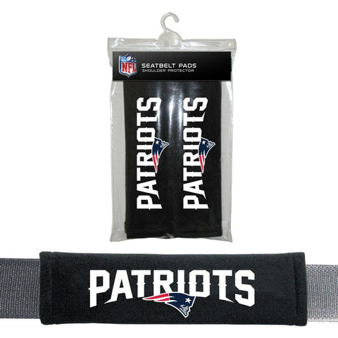 NFL New England Patriots Velour Seat Belt Pads 2 Pack by Fremont Die
