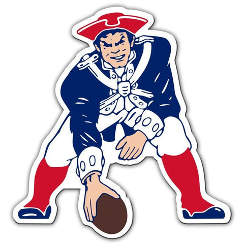 NFL 12 INCH AUTO MAGNET NEW ENGLAND PATRIOTS THROWBACK LOGO