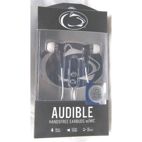 NCAA Penn State Nittany Lions Team Logo Earphones with Microphone by MIZCO