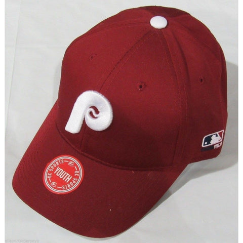 MLB Philadelphia Phillies Youth Cap Cooperstown Raised Replica Cotton Twill Hat