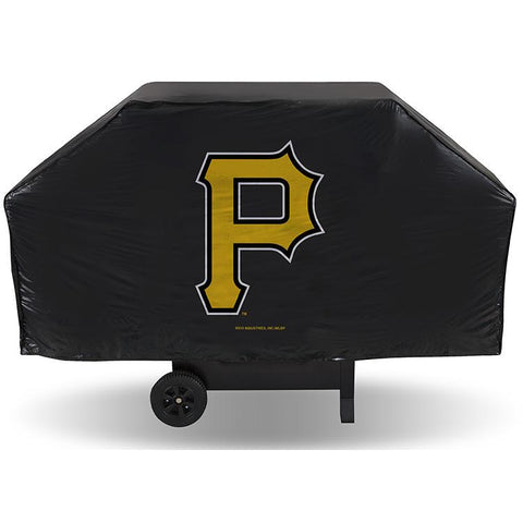 MLB Pittsburgh Pirates 68 Inch Vinyl Economy Gas / Charcoal Grill Cover