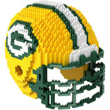 NFL Green Bay Packers Helmet Shaped BRXLZ 3-D Puzzle 1327 Pieces