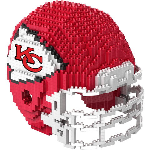 NFL Kansas City Chiefs Helmet Shaped BRXLZ 3-D Puzzle 1326 Pieces