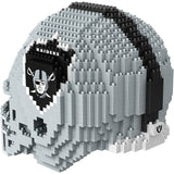 NFL Oakland Raiders Helmet Shaped BRXLZ 3-D Puzzle 1392 Pieces