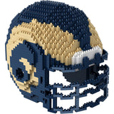 NFL Los Angeles Rams Helmet Shaped BRXLZ 3-D Puzzle 1310 Pieces