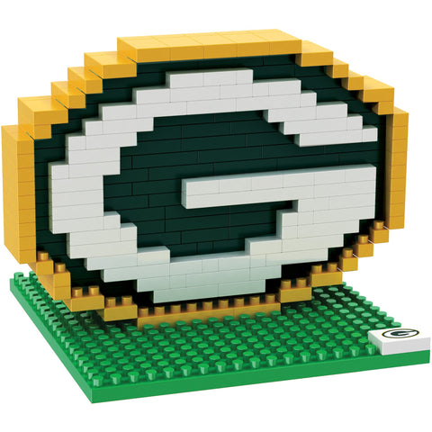 NFL Green Bay Packers Team Logo BRXLZ 3-D Puzzle 201 Pieces