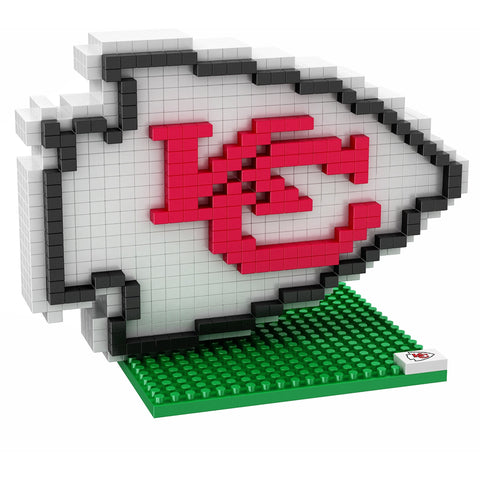NFL Kansas City Chiefs Team Logo BRXLZ 3-D Puzzle 494 Pieces