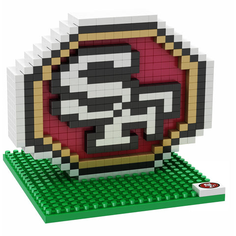 NFL San Francisco 49ers Team Logo BRXLZ 3-D Puzzle 420 Pieces