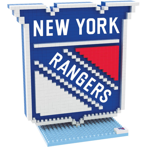 NHL New York Rangers Team Logo BRXLZ 3-D Puzzle 739 Pieces