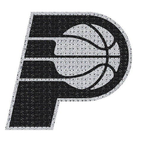 NBA Indiana Pacers Bling Emblem Adhesive Decal By Team ProMark