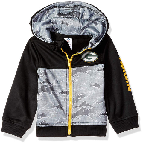 NFL Green Bay Packers Boys Black Hooded Jacket 4T by Gerber