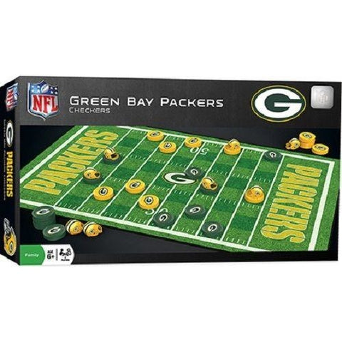 NFL Green Bay Packers Checkers Game by Masterpieces Puzzles Co.