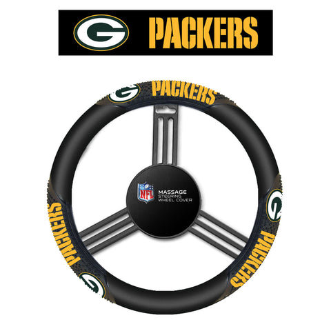 NFL Green Bay Packers Massage Steering Wheel Cover By Fremont Die