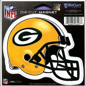 NFL Green Bay Packers Helmet 4 inch Auto Magnet by WinCraft