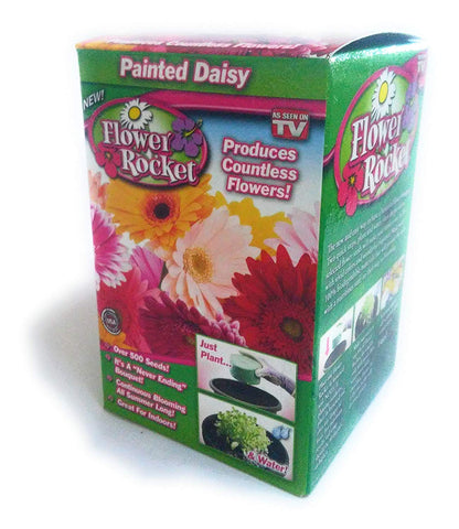 Flower Rocket AS SEEN ON TV Painted Daisy Kit Over 500 Seeds