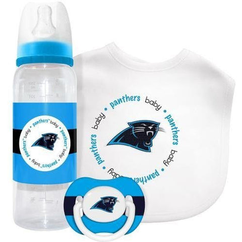 NFL Carolina Panthers Baby Gift Set Bottle Bib Pacifier by baby fanatic