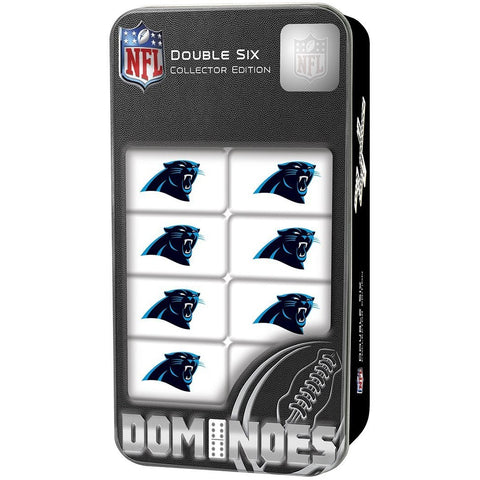 NFL Carolina Panthers White Dominoes Game by Masterpieces Puzzles Co