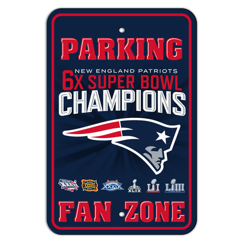 New England Patriots 6x SUPER BOWL CHAMPIONS Parking Sign Super Bowl LIII
