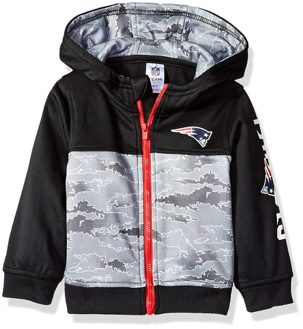 NFL New England Patriot Boys Black Hooded Jacket 12M by Gerber