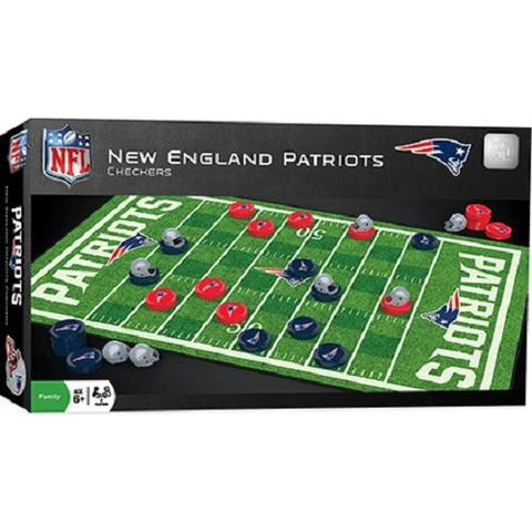 NFL New England Patriots Checkers Game by Masterpieces Puzzles Co.