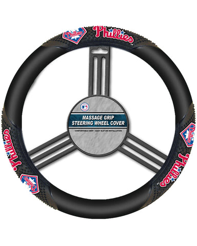 MLB Philadelphia Phillies Massage Steering Wheel Cover By Fremont Die